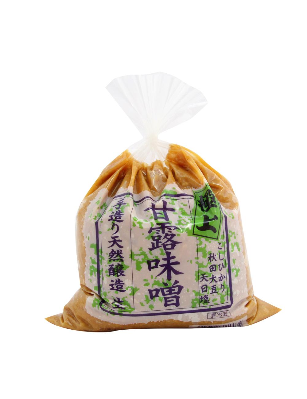 極上 甘露味噌 手作り天然醸造 こしひかり・秋田大豆使用