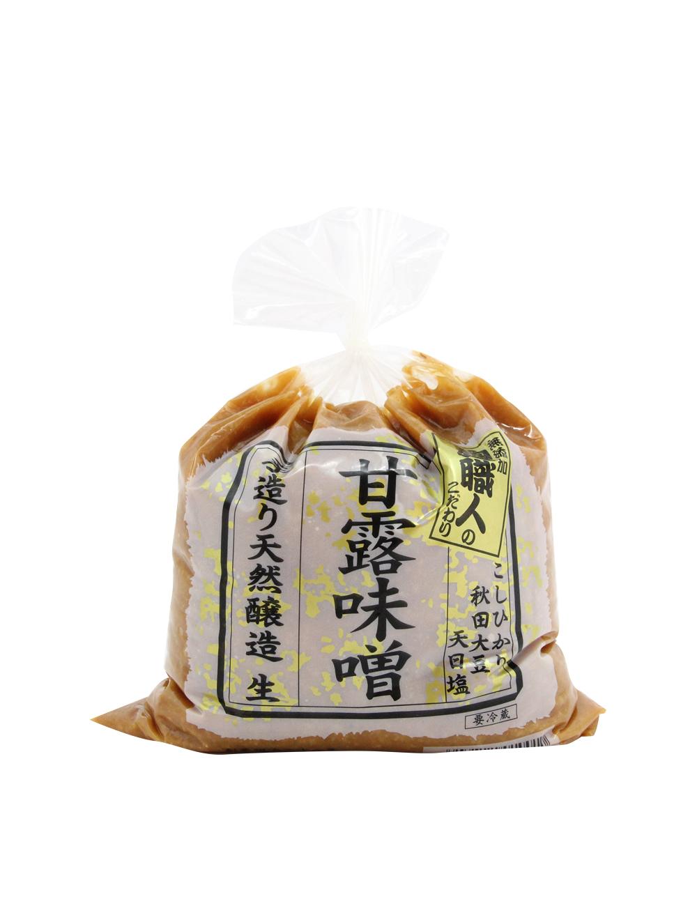無添加麹職人の甘露味噌 手作り天然醸造 こしひかり・秋田大豆使用