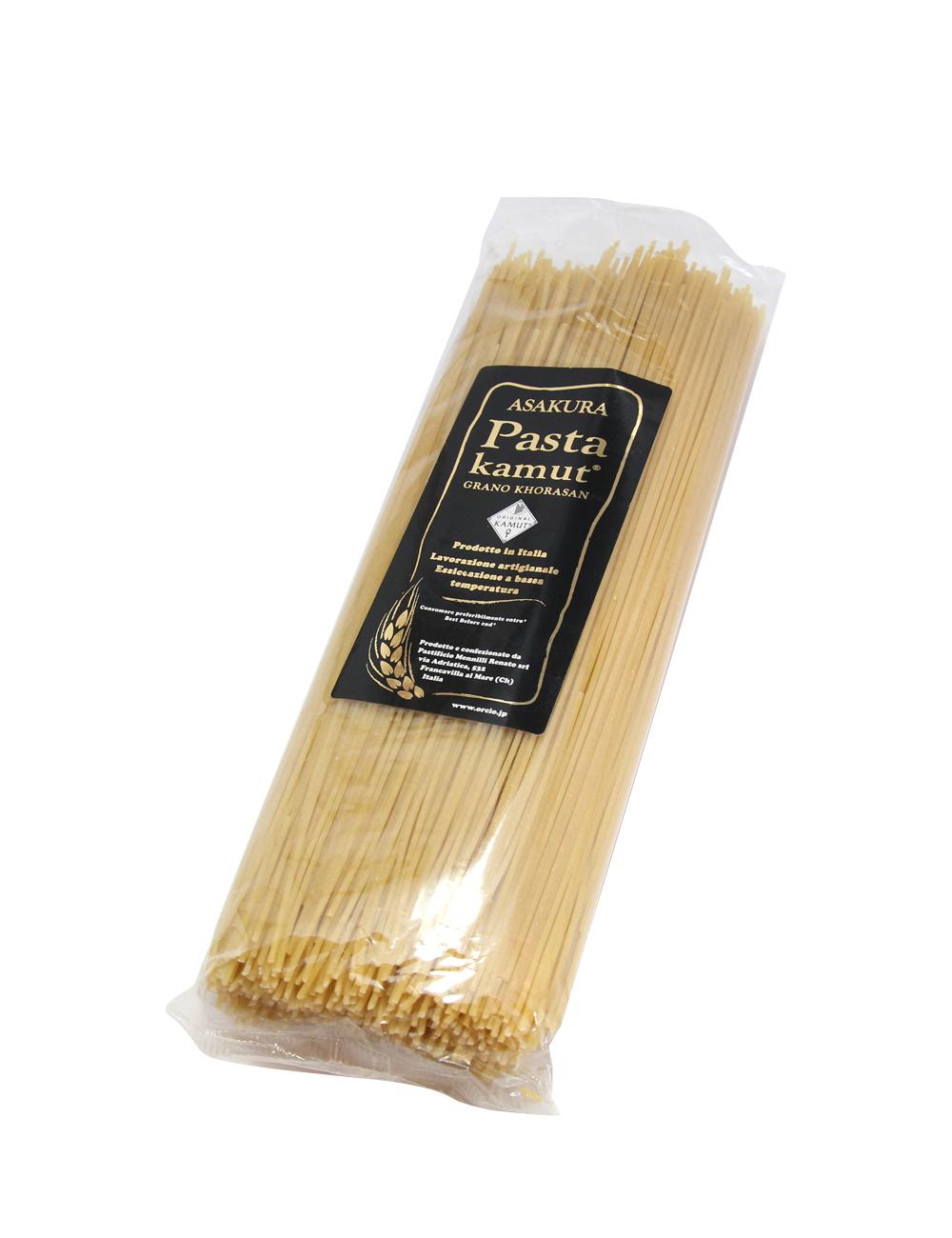 アサクラパスタ 古代小麦カムット(七分搗き)スパゲティーニ1.6mm