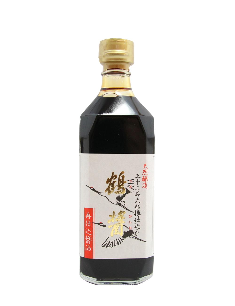 天然醸造再仕込醤油 鶴醤(つるびしお)国産丸大豆使用