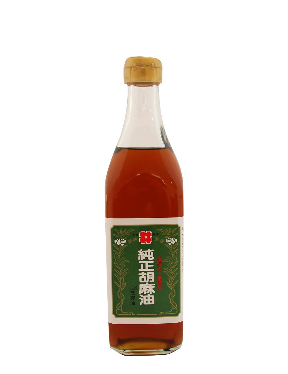玉絞め一番搾り 純正胡麻油 油茂製油