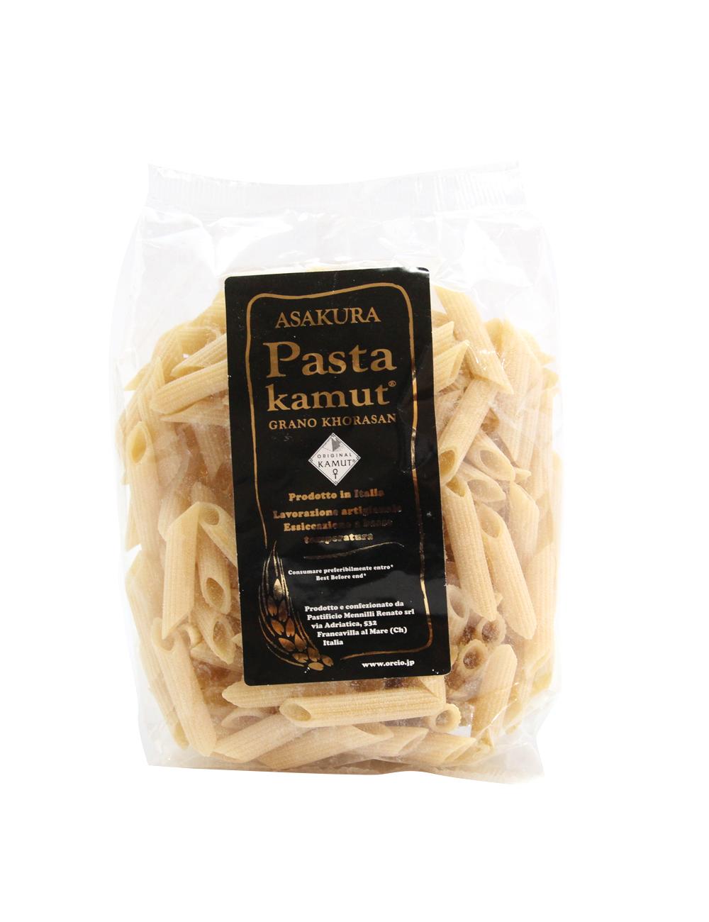 アサクラパスタ 古代小麦カムット(七分搗き)ペンネ